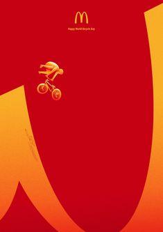 Creative Advertising, Mcdonalds, Bicycle, Ads, Create, Bikers, Peru, Campaign, Layout