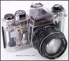 Transparent Pentax Spotmatic II SLR film camera