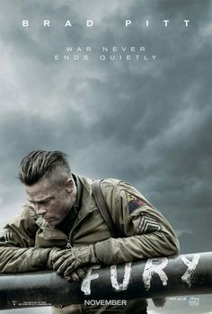 Fury, very interesting way to layout a poster, down and to the left. It could be a worse outlook and I hope that matches up with the movie perfectly. Come on Brad!