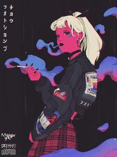 Im so in love with these illustrations ❤ Art And Illustration, Illustrations, Japanese Illustration, Kunst Inspo, Art Inspo, Art Sketches, Art Drawings, Posca Art, Anime Kunst