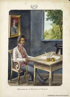Gobernadorcillo de Naturales en el Tribunal. Lozano, José Honorato 1821- — Dibujo — 1847