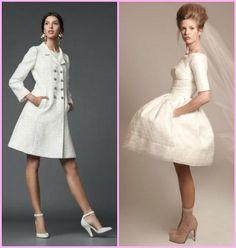 vestido de noiva curto evase