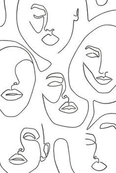 Dessin Kawaii À Imprimer, Dessin Esthétique, Dessin Abstrait, Dessin De Mode, Dessin Visage Facile, Tatouage Rose Dessin, Femme Dessin, Visage De Femme, Croquis De Visages