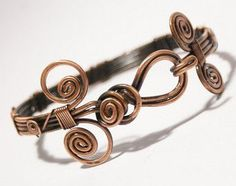 bangle jewelry- copper wire wrapped