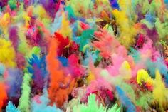 WHAT: Holi Festival WHERE: India (see also: http://www.holifestival.org/holi-around-the-world.html) WHEN: February-March WHY: Holi traditionally celebrates the triumph of good over bad. The most well know aspect of the festival is the throwing of brightly coloured powder (pictured)