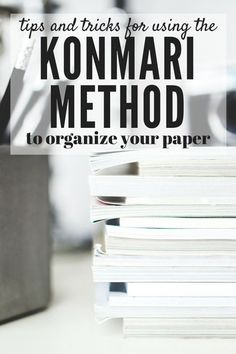 Do you find that you struggle to keep your home clean and organized? Are you always decluttering, only to start over again a few months later? Then maybe the KonMari method is for you! This post will show you how to use the tips and tricks from The Life-Changing Magic of Tidying Up to get your papers clean and organized, once and for all! There's even a free printable checklist for the entire KonMari method, so you can be sure you don't miss a thing!