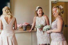 Pin for Later: 40+ Adorable Photos You Need to Take With Your Bridesmaids Real Moments of Laughter See the full wedding here.  Photo by Wedding Photography by Nigel Edgecombe