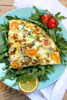 Very Vegetable Frittata Recipe - from RecipeGirl.com : a healthy breakfast or lunch recipe packed with 5 cups of veggies!  I love it topped with a little mango salsa. 165 calories and 5 Weight Watchers Smart Points per serving