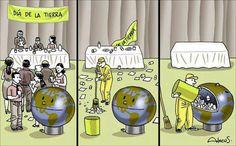 Humor gráfico - Día de la Tierra