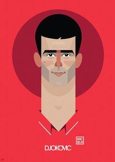 Novak Djokovic Tennis Art print by SuperSubSportsArt on Etsy