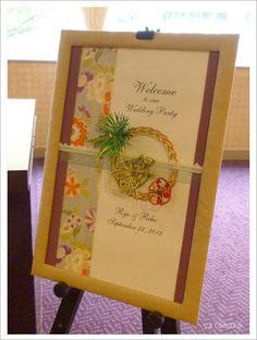 ウエルカムボード Wedding Welcome Signs, Wedding Signs, Wedding Styles, Wedding Themes, Welcome Boards, Japanese Wedding, Ring Pillow Wedding, Japan Design, Origami