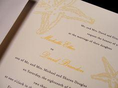 Romantic Beach Custom Color Wedding Invitation Set $2.50