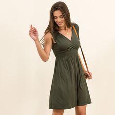 Short wrap dress elasticated trim #MYSbasic