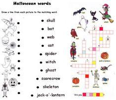 Halloween - jeux de lettres