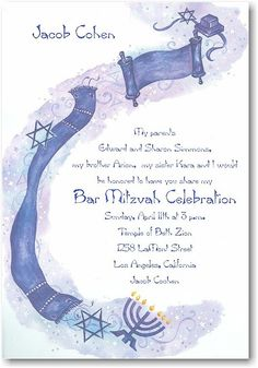 Son of the Commandment Bar Mitzvah Invitation - $0.79 each with purchase of 100