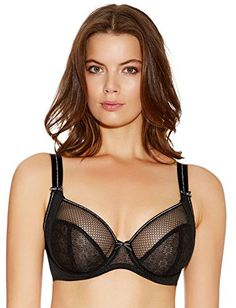 48e950c01 Freya Womens Hero Underwire Side Support Plunge Bra Black 32G   You can get  additional details
