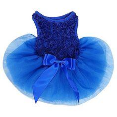 High Maintenance Dog Rosettes Dog Dress Dog Dress Small Royal Blue