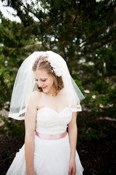 wearing her grandmother's wedding dress <3 | Jen & Chris Creed | Glamour & Grace