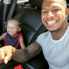 If he didn't get any of my features he inherited my wide ass smile. #Team32 LOL