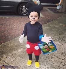 hat idea because it's alway cold---diy mickey mouse costume for boy - Google Search