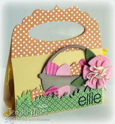 cute idea for Easter bag for my Friday stamping group!