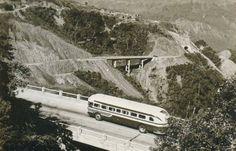Via Anchieta. São Paulo - Santos. 1954
