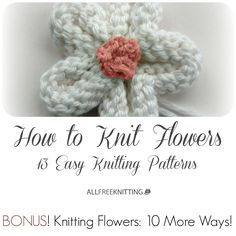 Check out our page on how to knit flowers with a bunch of new patterns just added!