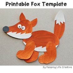 Paint or color, cut, and assemble this fun printable fox template for a fun art project, flannel board or bulletin board pattern, and more!  Includes a bonus notebooking page for gathering facts about the fox or arctic fox.  *****************************************************************************  You can visit my blog to see more details on how we used a similar template to create an adorable art piece and writing ...