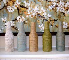 своими руками,декор дома,ваза из бутылки,стиль,ваза для цветов,уют