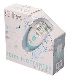 Epilady EPIFLEX Rechargeable Wet & Dry Waterproof Double Head Epilator BNIB #Epilady