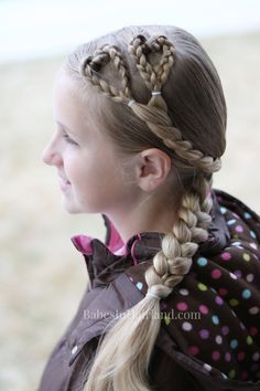 Want a cute Valentine's Day Hairstyle, but don't have a ton of time? Try this cute and simple triple heart pullback hairstyle that will put love in your hair in no time!