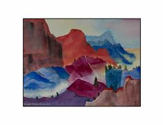 """Original Watercolor by Susan Marie Fairclough, The Little Valley, 18"""" X 24"""" Unmatted"""