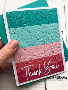 Easy Cards, Cards Diy, Your Cards, Embossed Paper, Embossed Cards, Handmade Thank You Cards, Greeting Cards Handmade, Rainbow Card, Iris Folding