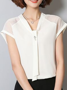 Chiffon Perspective Slim Cozy Blouses