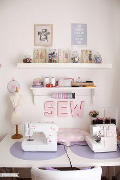 Idées de décoration pour un atelier couture chez soi
