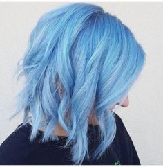 Even though my days of crazy hair colors is over I love this blue. - Elise