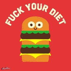 «Если бы еда умела говорить #лепра #еда #бургер #диета #diet #lepra»