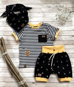 Bio Baumwolle little label Medium Blau Unisex Baby Wickelshirt T-Shirt