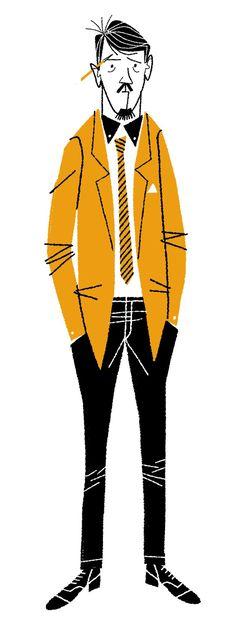 Artist Klas Fahlen at Illustration Division Retro Illustration, Character Illustration, Graphic Design Illustration, Digital Illustration, Sketch Inspiration, Character Design Inspiration, Character Design References, Character Art, Cartoon Styles