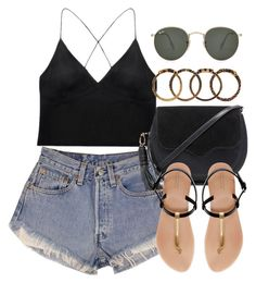 """Style  #10758"" by vany-alvarado ❤ liked on Polyvore featuring Curriculum Vitae, Levi's, Ray-Ban, Rebecca Minkoff, Zara and Yves Saint Laurent"