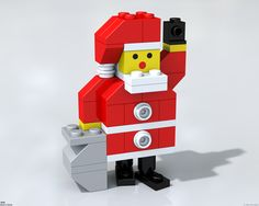 Lego Santa. Johnny, can you make us one of these?  Maybe some elves to go with him?