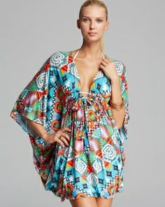 MARA HOFFMAN Modal Cover Up Poncho  Astrodreamer $225