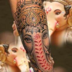 Sabías que Ganesha es reverenciado por ser el dios hindú de remover obstáculos?  Esperamos que tus obstáculos sean removidos lo más pronto posible, y nos des una grata visita al estudio  Next Level Tattoo, Ganesha, Tattoos, Studio, Tatuajes, Ganesh, Tattoo, Tattoo Illustration, Irezumi