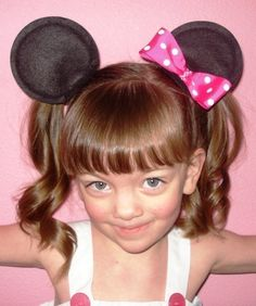 Minnie Mouse Ear Hair ClipsWith a BowCustom by head2toedesigns, $11.99