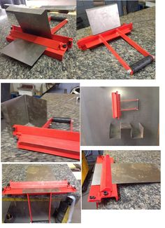 Metal working projects: You should not show an example in any way or display different examples which means that your kids can create things themselves. Metal Bending Tools, Metal Working Tools, Metal Tools, Sheet Metal Bender, Sheet Metal Brake, Metal Workshop, Home Workshop, Metal Projects, Welding Projects