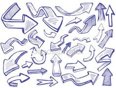doodleicon.com hand drawn doodle icon - Vector arrows stock images and illustrations