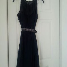 Navy Blue Adrianna Papell dress size 12 Navy Blue Adrianna Papell dress size 12 worn once. Adrianna Papell Dresses