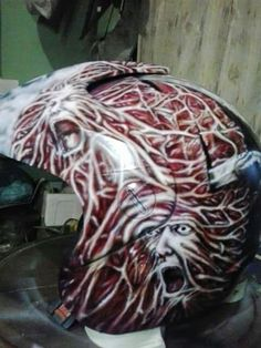 Air brush painting helm