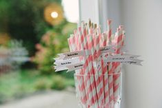 Paper straws with flags