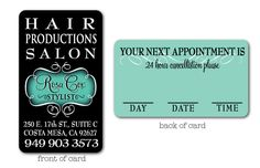 This elegant and stylish Hair Stylist business card design will be the hit of your Salon! This custom design is unique and exclusive to Delight Invite. This business card design is printed on premium coated card stock and comes with custom rounded corners.